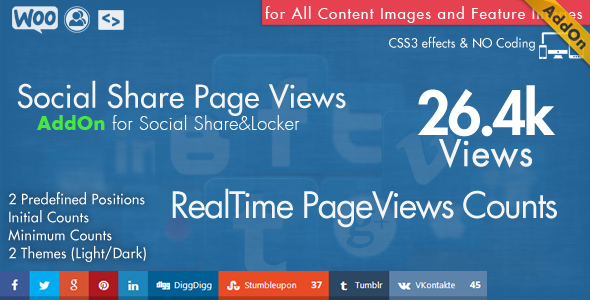 Social Share Page Views AddOn – WordPress