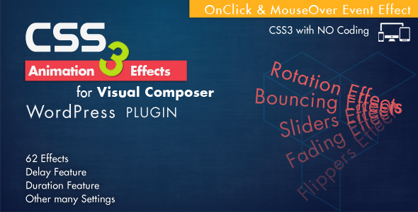 Animation CSS3 Effects – Visual Composer WordPress