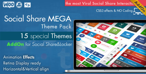Social Share Mega Theme Pack – WordPress