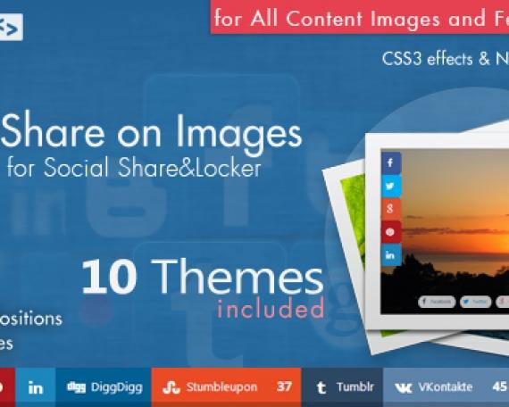 Social Share on Images AddOn – WordPress